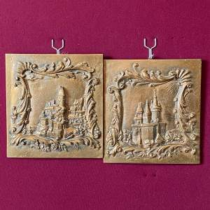 Pair of Bronze French Plaques