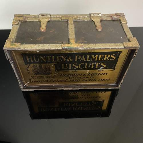 Huntley and Palmer Iron Chest Biscuit Tin Circa 1909 image-2