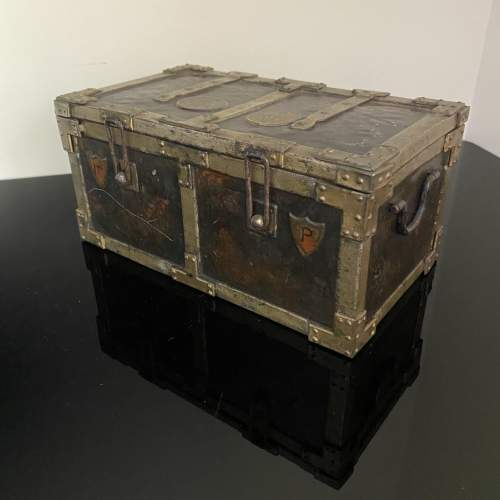 Huntley and Palmer Iron Chest Biscuit Tin Circa 1909 image-3