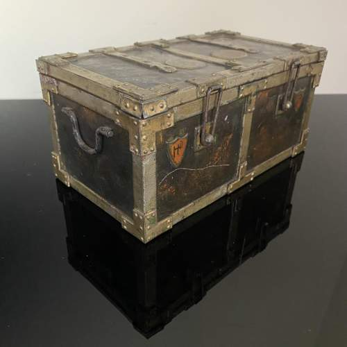 Huntley and Palmer Iron Chest Biscuit Tin Circa 1909 image-4