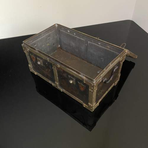 Huntley and Palmer Iron Chest Biscuit Tin Circa 1909 image-5