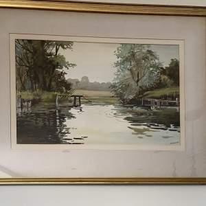 A Gentle Splash - Original Watercolour by Artist Michael Crawley