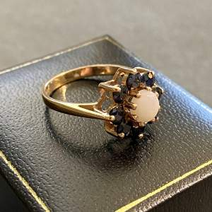 9ct Gold Sapphire and Opal Ring
