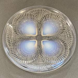 Rene Lalique Coquilles Opalescent Glass Plate