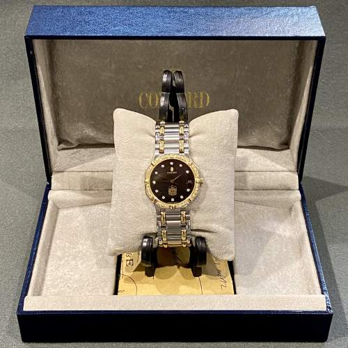 Vintage Concord Saratoga 18ct Gold and Stainless Steel Watch image-1