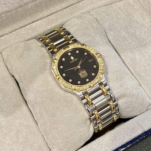 Vintage Concord Saratoga 18ct Gold and Stainless Steel Watch image-2