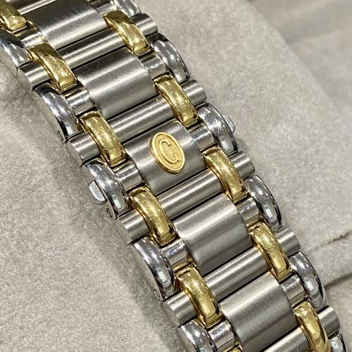 Vintage Concord Saratoga 18ct Gold and Stainless Steel Watch image-5