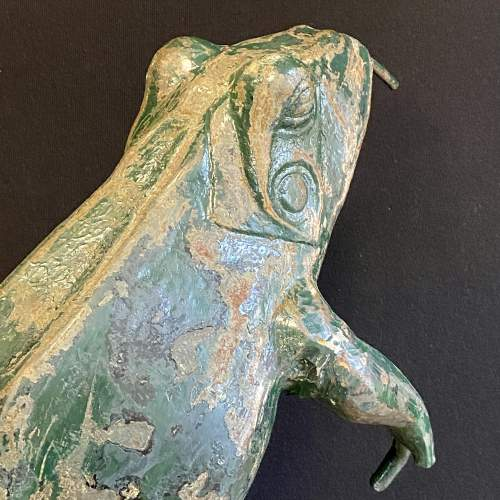 1930s Cast Iron Leaping Frog Statue or Fountain image-4