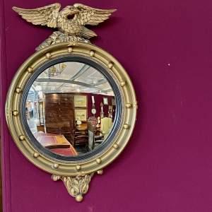 Regency style Gilt Framed Convex Wall Mirror