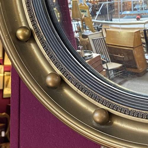Regency style Gilt Framed Convex Wall Mirror image-5