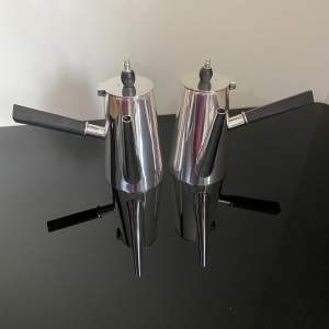 Pair of Silver Plated Hot Cocoa Milk Jugs - Walker and Hall