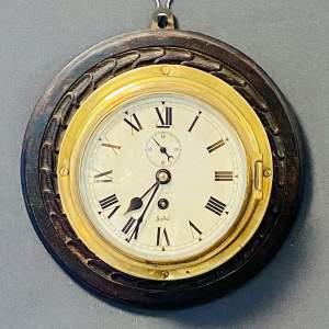 Olsens of Grimsby Sestral Brass Ships Clock
