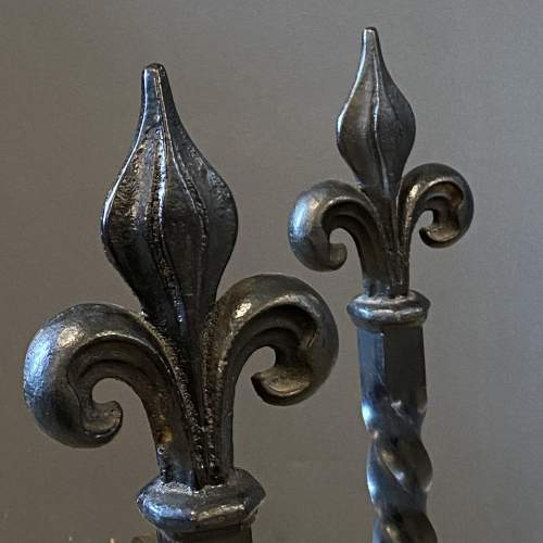 Pair of Wrought Iron Fire Dogs image-4