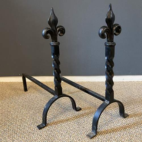 Pair of Wrought Iron Fire Dogs image-3