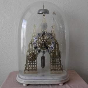 English Skeleton Clock by Evans of Handsworth Birmingham