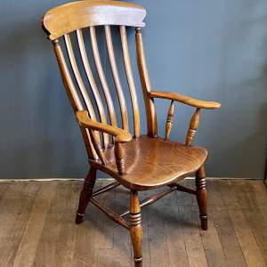 Slat Back Grandfather Armchair