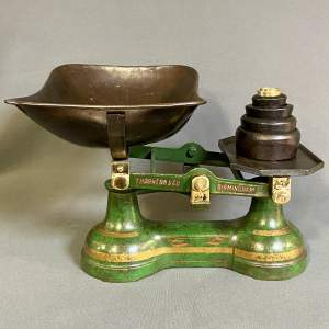 Vintage Thornton and Co Shop Scales with Weights
