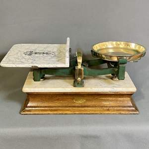 Large and Impressive Vintage Butter and Cheese Scales