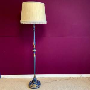 Early 20th Century Chinoiserie Standard Lamp and Shade