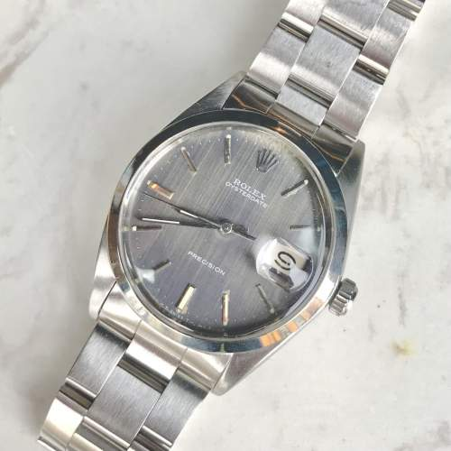 Vintage Gents 1970 Rolex Oyster Date Precision 6694 Grey Dial image-1