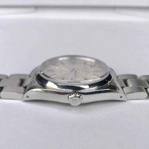 Vintage Gents 1990 Rolex Air King 14000 Silver Dial with Box image-3