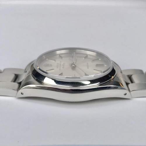 Vintage Gents 1990 Rolex Air King 14000 Silver Dial with Box image-4