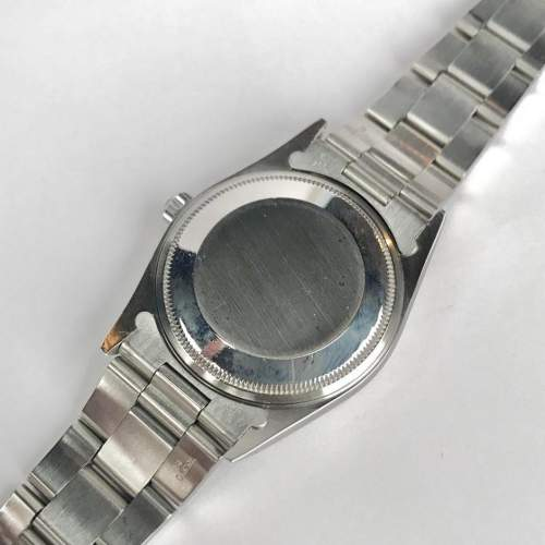 Vintage Gents 1990 Rolex Air King 14000 Silver Dial with Box image-5