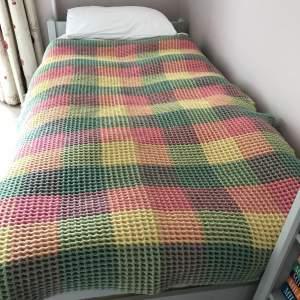 Mid Century Welsh Waffle or Honeycomb Blanket