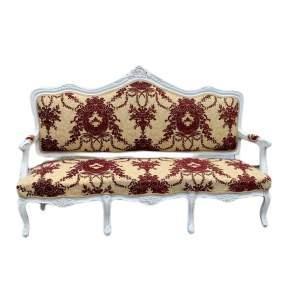 Victorian Painted 3-Seat Salon Sofa
