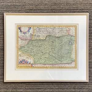 Map of Austria by Abraham Ortelius