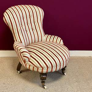 19th Century Small Slipper Chair