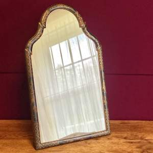 Queen Anne Style Chinoiserie Framed Table Mirror