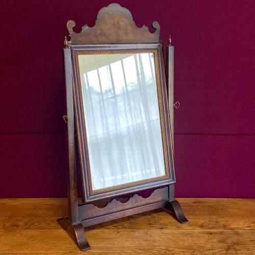 Queen Anne Style Walnut Dressing Table Mirror image-1