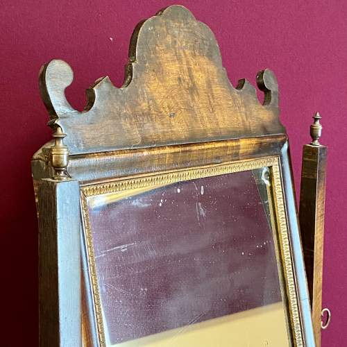 Queen Anne Style Walnut Dressing Table Mirror image-3