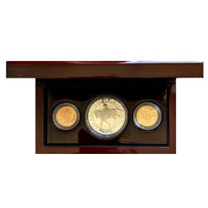 2002 - 2012 Commemorative Gold and Silver Three Coin Set