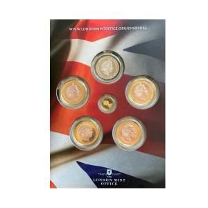 1874 - 1965 Churchill Commemorative Gold & Silver six coin set