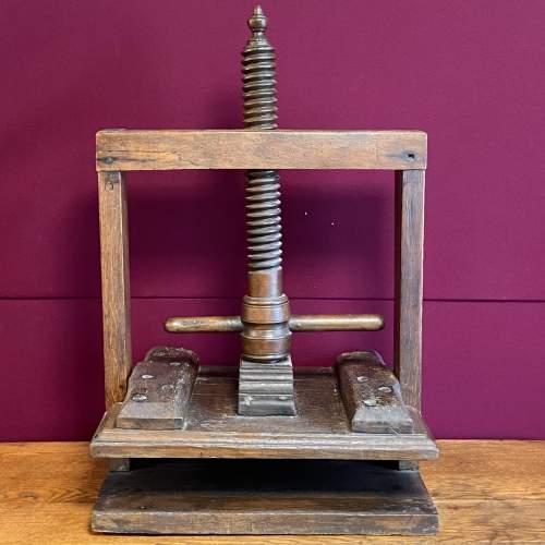 17th Century Oak Book or Linen Press image-1