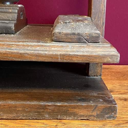 17th Century Oak Book or Linen Press image-4