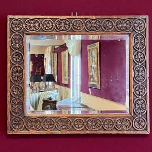 Arts and Crafts Carved Wall Mirror