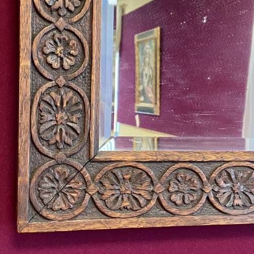 Arts and Crafts Carved Wall Mirror image-2