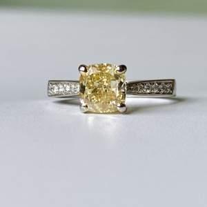 Fancy Yellow Diamond Ring G.I.A.