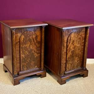 Mid 19th Century Pair of Mahogany Bedside Cabinets