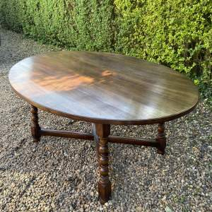 Quality Titchmarsh and Goodwin Oak Dining Table