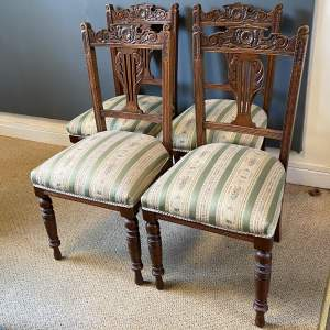 Set of Four Edwardian Dining Chairs