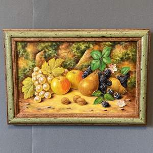Still Life of Fruit Oil on Canvas Painting by John Smith