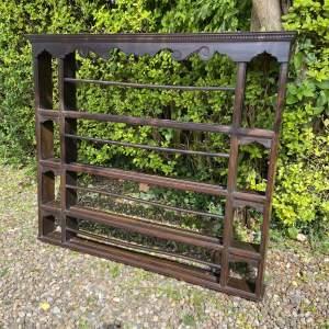 Early 20th Century Oak Dresser Rack