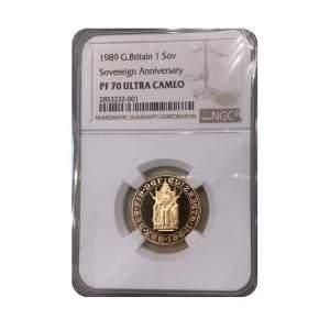 1989 500th Anniversary Gold Sovereign - PR70 UC