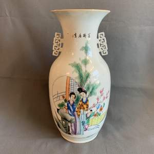 Large 19th Century Hand Decorated Chinese Vase