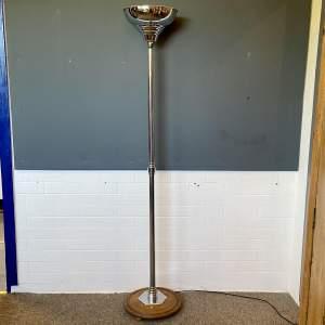 Art Deco Chrome Uplighter Standard Lamp