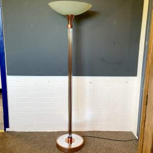Art Deco Glass Rod Uplighter Standard Lamp
